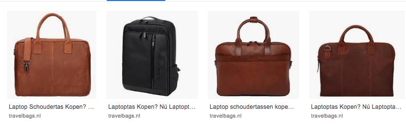 Eisen voor jouw laptoptas